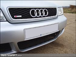 OEM RS4 Bonnet grille with S-Line badge
