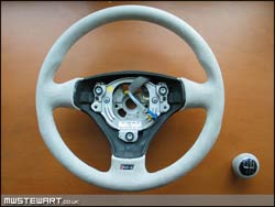 RS4 Alcantara Steering wheel & Gearknob